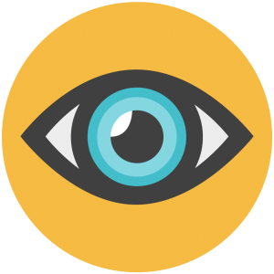 Blue eyeball icon