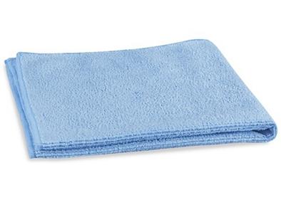 light blue microfiber cloth on white background