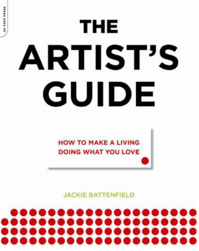 Screenshot of the cover of the Artist's Guide: How to make a living doing what you love. Small red dots appear at the bottom of the page.