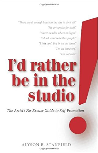 I'd Rather Be in the Studio: The Artist's No-Excuse Guide to Self-Promotion with a red exclamation point