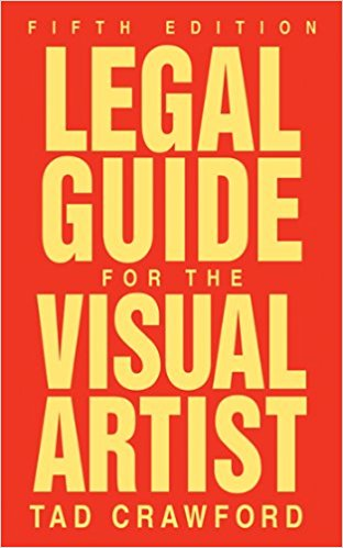 Cover of Legal Guide for the Visual Artist. Red background with yellow text