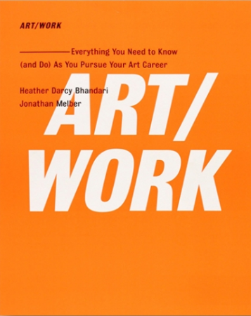 Cover of Art/Work with an orange background and white text