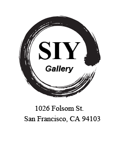 Black circle around text that reads SIY gallery